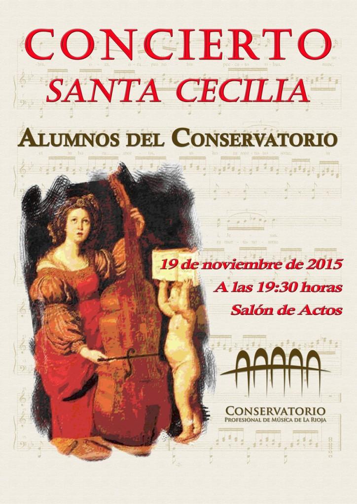 Cartel concierto Santa Secilia