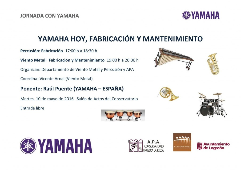 20160510 - Jornada YAMAHA HOY, FABRICACIÓN Y MANTENIMIENTO