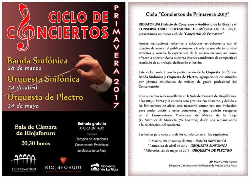 Conciertos Primavera 2017-Riojaforum