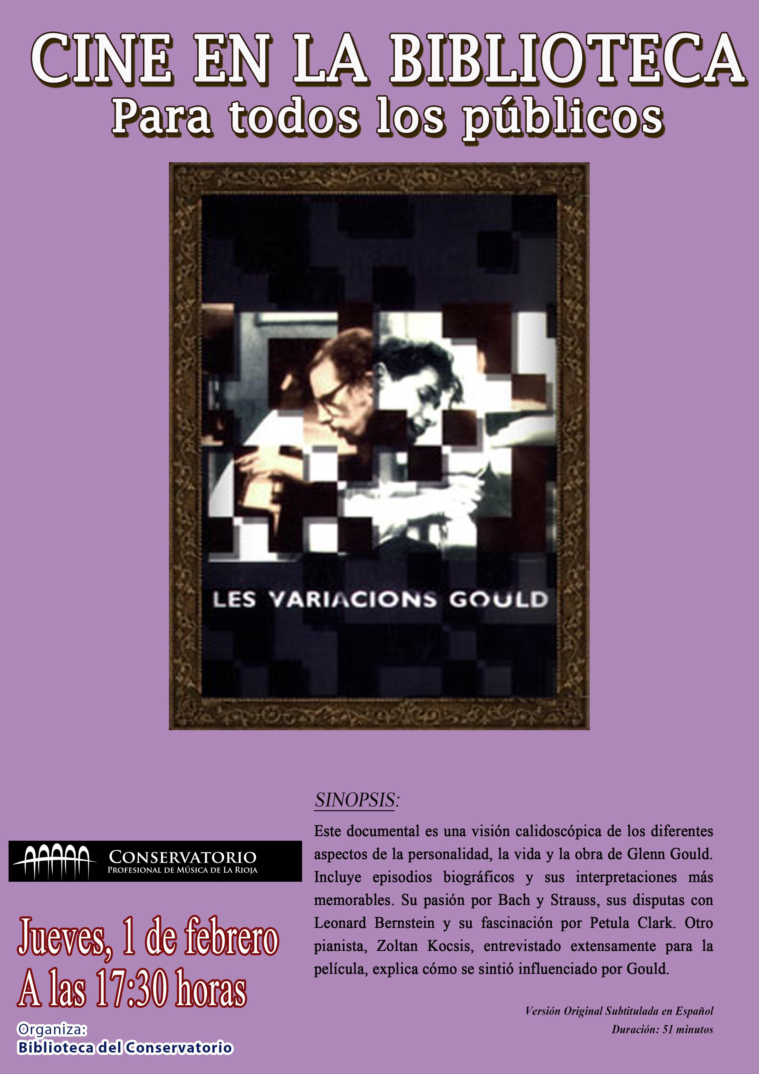 Cartel cine Biblioteca_Variaciones Gould
