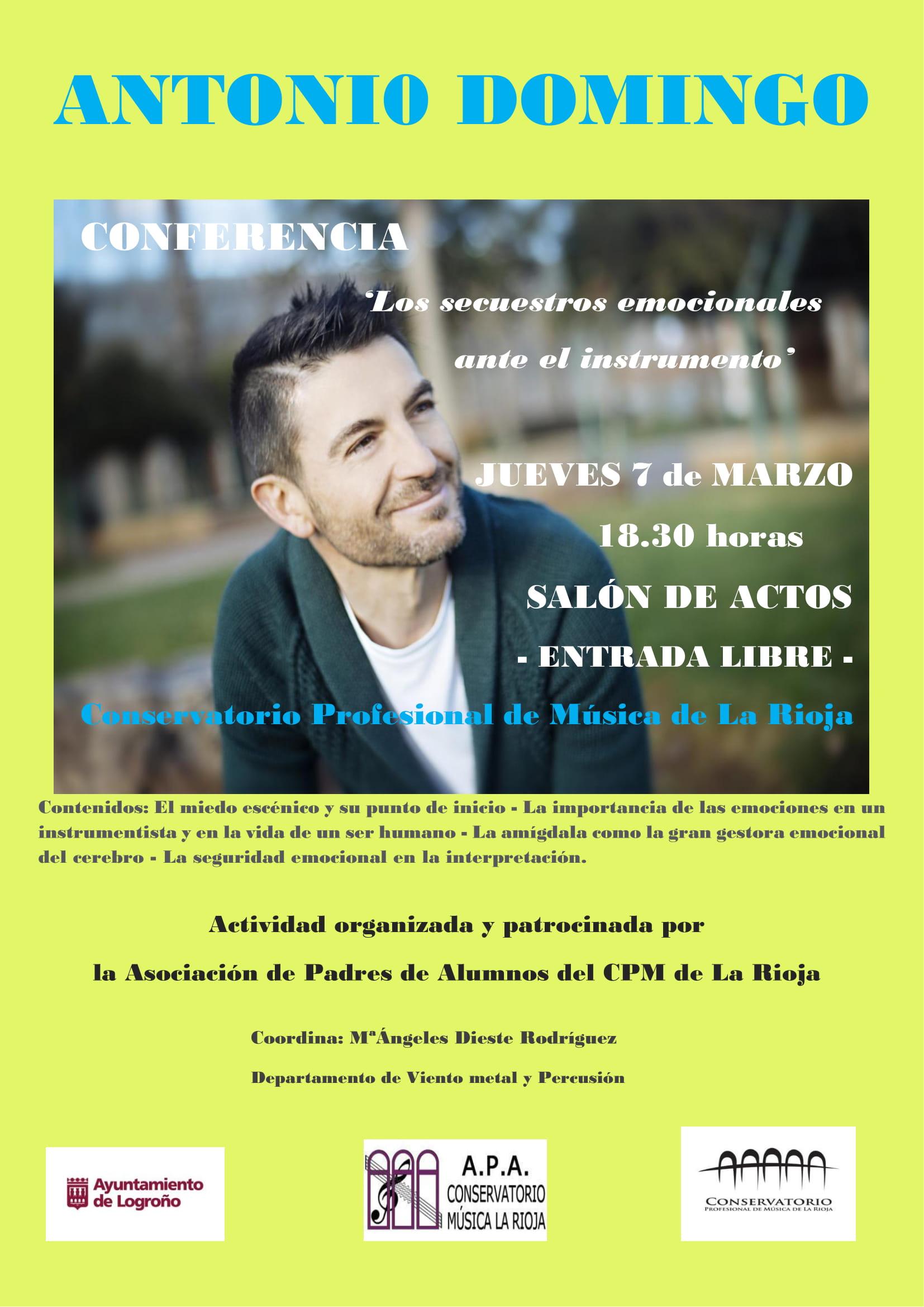 cartel CONFERENCIA Antonio Domingo web